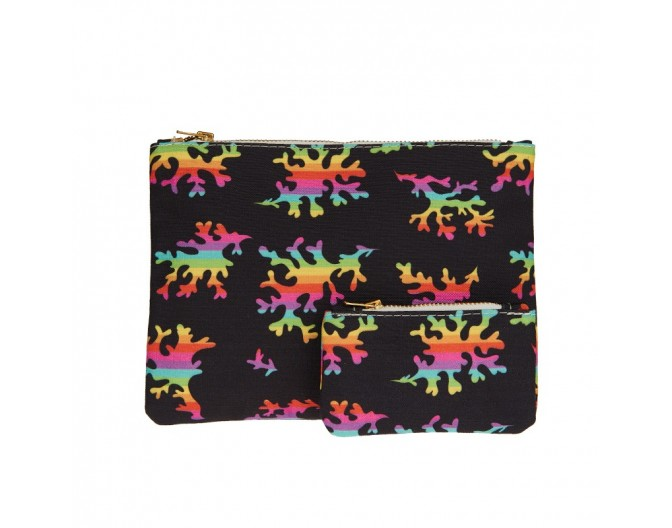 0016 clutch set rainbow corals black