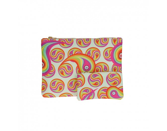0016 clutch set rainbow paisley